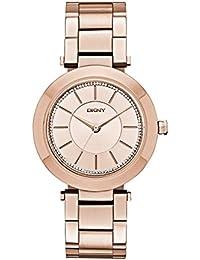 DKNY Reloj de cuarzo para mujer con color blanco esfera analógica pantalla y plateado acero inoxidable NY2287