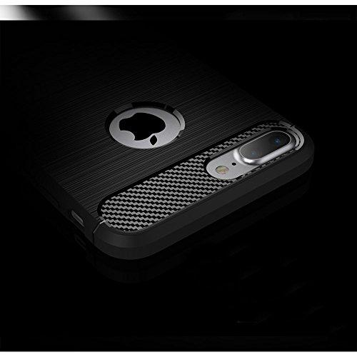 Apple iPhone 8 plus Coque, TopACE® Ultra Fine Mince Slim Effet Rigida Antichoc Etui Back Case Cover Parfait Design pour Apple iPhone 8 plus (Gris) Soft Cover-Bleu IV