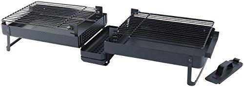 Rosenstein & Söhne Koffergrill: Klappbarer Picknick-Koffer-Grill mit Hitzeschutz (geschloßen) (Koffergrill Holzkohle)