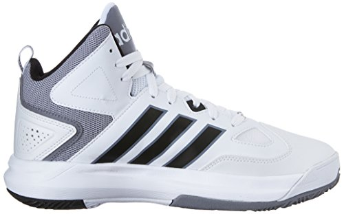 Adidas Neo Cloudfoam Thunder Mid scarpe, Piombo / bianco / alimentazione rosso, 7 M Us White/Black/Grey