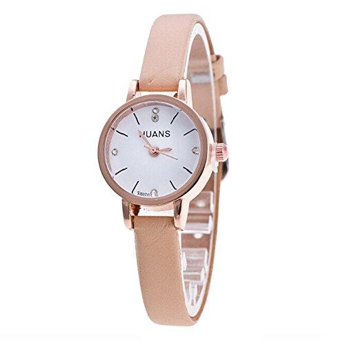 Uhren Damen Armbanduhr Fashion Business Uhr Frauen Leisure Sportuhr Thin Business Watch Leisure Sportuhr Analog Leather Uhr Uhrenarmband ABsoar