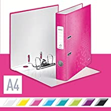 Leitz Lever Arch File, Metallic pink, A4, 50 mm spine width, WOW Range, 10060023