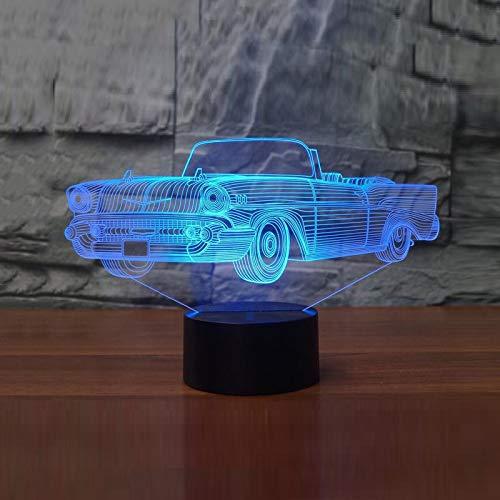 Moderne Cabrio-3 Licht (YDBDB Nachtlicht 3d led 7 farben ändern led cabrio led usb touch button tischlampe sport auto form lichter wohnkultur kind geschenk)