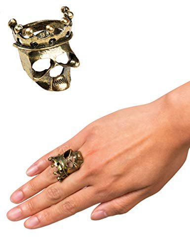 Boland Totenkopf Ring Skull Crown aus Metall