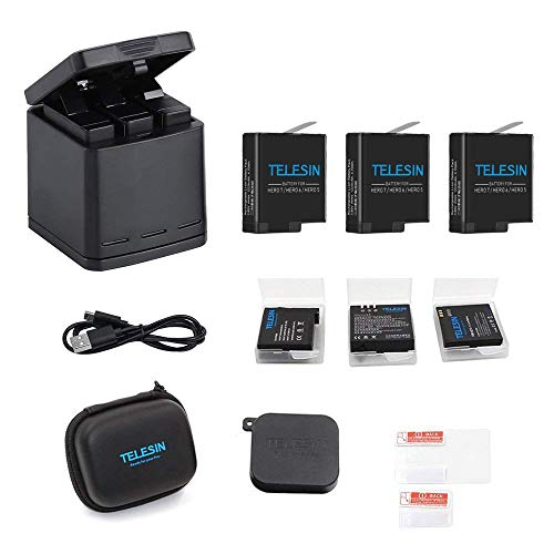 TELESIN Triple Charger Battery Set-Charging Box +