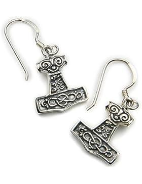 Thors Hammer Ohrringe 925 Silber Wikinger Schmuck Ohrhänger Ohrschmuck keltisch