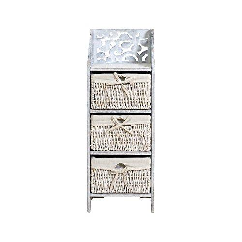 Rebecca srl comodino cassettiera mobile bagno 3 cassetti - Cassettiere bagno amazon ...