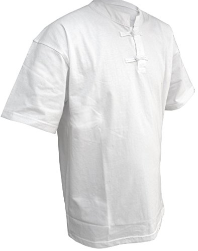 DOUBLE Y Tee shirt col Mao manches courtes BLANC 190 CM