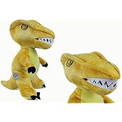 Jurassic World dinosaur XXL VelociRaptor de peluche plush amarillo 60 cm
