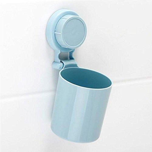 Z@SS-Kreative Paar Sauger Zahnbürstenhalter Saugwand Zahnbürste Tasse Spülen Tasse Bürste Zahn Tasse Zahnbürste Box . blue 1