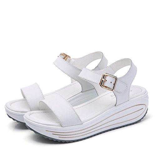 Lady, Été, Sandales Décontractées / Talons Moyens, Épais, Secouant Chaussures A