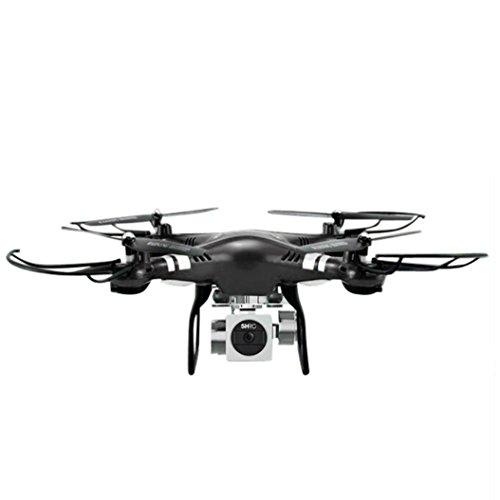 WYXlink RC Quadcopter 1080p Weitwinkel-Objektiv 270 Grad rotierende HD-Kamera Drohne FPV Geschenk (Schwarz)