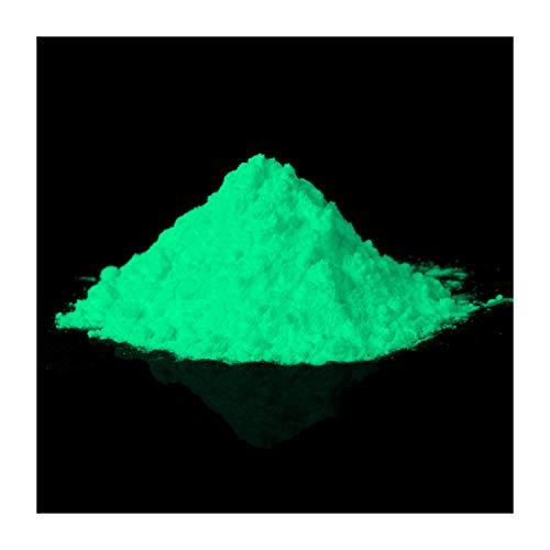 lumentics Premium Leuchtpulver Grün 40g - Im Dunkeln leuchtendes Farbpulver. Nachleuchtend, phosphoreszierend, fluoreszierend und nachleuchtend. UV Pigmente für Leuchtfarbe, Harz, Lack, Epoxy -