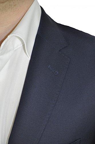 Lanificio F. LLI Cerruti–slim fit–Messieurs de Construction Veste en laine vierge pure (1070, modèle: S 06.105NC) Bleu - Dunkelblau (727)