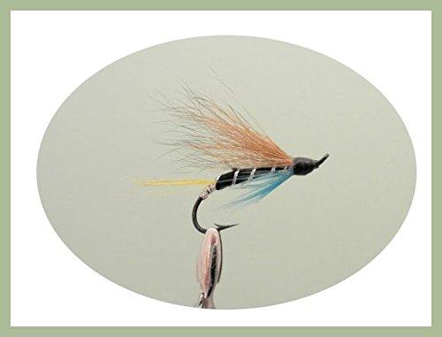 pesca con mosca solo gancho Verdugo Pesca a mosca para salm/ón 3/unidades elecci/ón de tama/ño