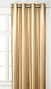 Linder 0523 21 377fc rideau simili cuir dor oeillets 135 for Rideau linder