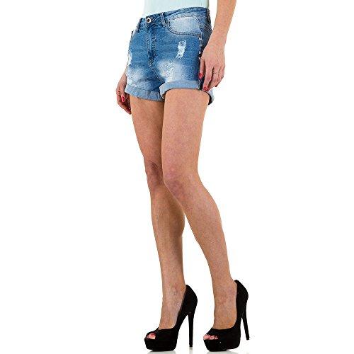 332dfb3f375c Destroyed Jeans Hot Pants Shorts Für Damen bei ItalDesign Blau ...