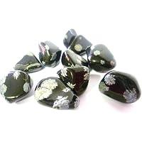 Trommelstein Snow Flake Obsidian Trommelstein–A Grade Qualität Kristall–für Erdung, Schutz und Ausgleichende... preisvergleich bei billige-tabletten.eu