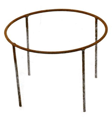 Metallmichl Edelrost-Ring 40cm Ø mit Stäben 40 cm lang als Schalenständer oder für Gestecke