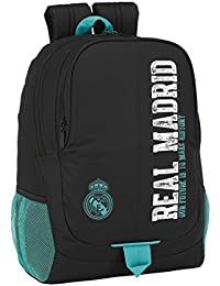 Safta Real Madrid-2 2018 Mochila tipo casual, 44 cm, 22.52 litros, Negro