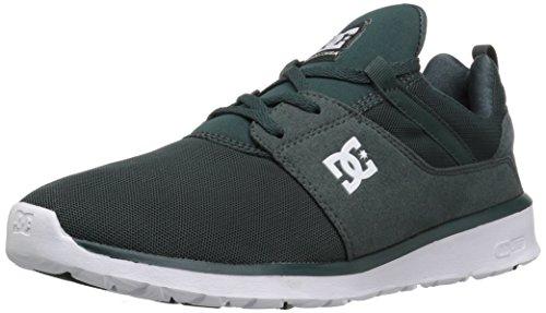 Zapato De Skate Dc Heathrow, Negro / Gris / Verde, 14 M Us Dark Green