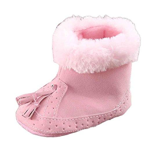 Ouneed® Sapatos Rastejando, Do Bebê Do Algodão Macio Rosa Berço Sapatos Bebê Únicos Botas De Neve
