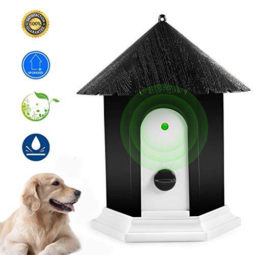 PamperPets Anti-Bell Gerät, sendet automatisch Ultraschallton bei Hundegebell, ideal für den Garten oder das Zuhause, sanft für Mensch & Tier, effektiv gegen Hundebellen