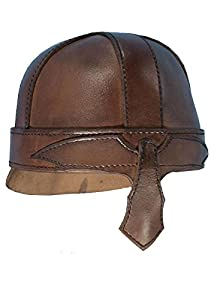 Epic Armoury- Warrior Helmet-Brown-M Casco, Color marrón, medium (Iron Fortress 100104M)