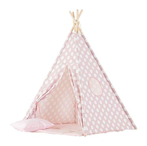 wigiwama Teepee-Set Dots, rosa groß (Kleinkind Bettwäsche Dots)