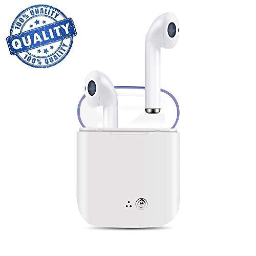 Bluetooth Kopfhörer,kabelloser Stereo-Sportkopfhörer mit Geräuschunterdrückung und tragbarer Ladebox,integriertes Mikrofon, geeignet für IOS,iPad,Huawei,Samsung Android und andere Smartphones A2 - Mini Ohrhörer Ipad Apple