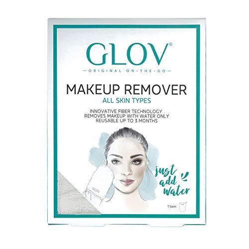 GLOV ON THE GO- IVORY - Handschuh Mikrofaser hypoallergene Make-up-Entferner - Entfernt Make-up nur mit Wasser - Gesichtsreinigung natürlich - wiederverwendbares Tuch bis zu 3 Monate