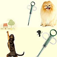 Jacobssen Inizio pillole Dispenser Feeding Medicina Gatto di cani animali domestici Tablet Medicina Feeder,White&Green