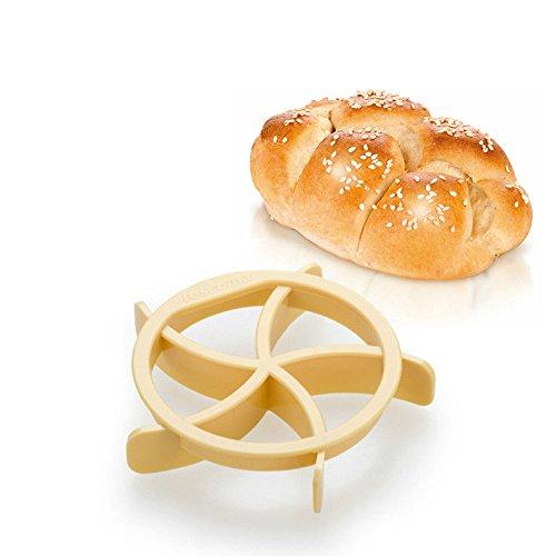 Interesting® Delicioso pan casero rollos molde para pan Kaiser línea molde cocina repostería hornear herramientas width=