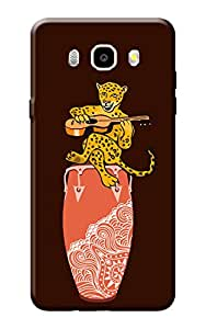 Kanvas Cases Premium Quality Designer Printed 3D Lightweight Slim Matte Finish Hard Case Back Cover for Samsung Galaxy On 8 + Free Mobile Viewing Stand