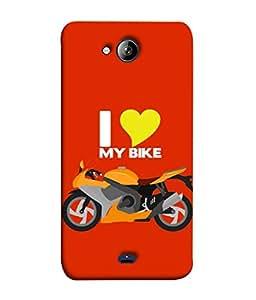 Micromax Unite 3 Q372, Micromax Q372 Unite 3 Back Cover I Love Bike Icon Design From FUSON