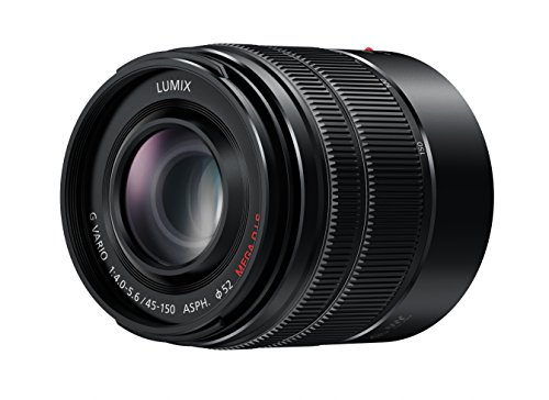 Panasonic H-FS45150EKA LUMIX G Vario Telezoom 45-150 mm F4.0-5.6 ASPH. Objektiv (90-300 mm KB, O.I.S. Bildstabiliator) schwarz -