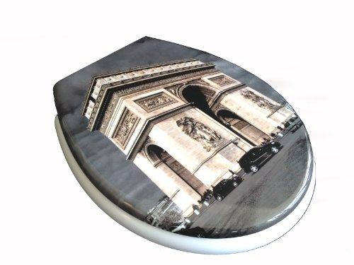 ADOB Duroplast WC Sitz Klobrille Modell Paris mit Absenkautomatik, zur Reinigung abnehmbar, 59835