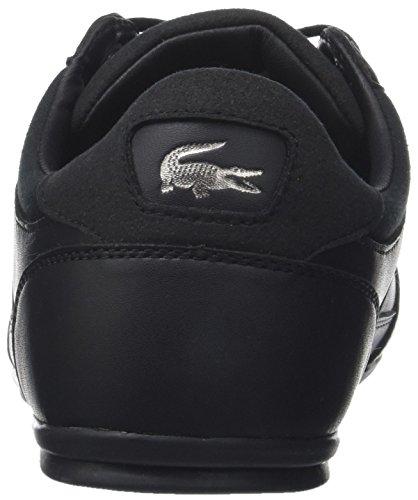 Lacoste Herren Chaymon 118 1 Cam Sneaker Schwarz (Blk/dk Gry)