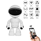 Balscw-J HD1080P cámara WiFi, Robot IP Seguridad WiFi Cámara de visión Nocturna de detección de Movimiento de Dos vías Audio Baby Monitor