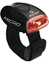 Sigma Sport Beleuchtung Micro - Rücklicht LED rot, permanent leuchtend / blinkend, 20 g, spritzwassergeschützt, Fahrradlampe, Sicherheits-Leuchte, Helmleuchte
