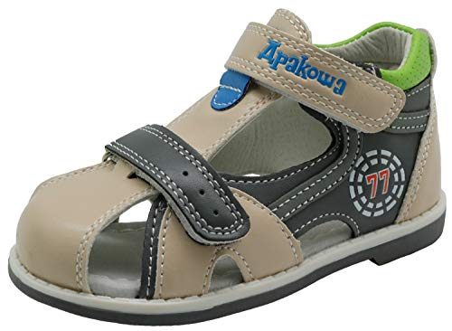 Apakowa Kids Toddler Boys Closed-Toe Strap Sandals