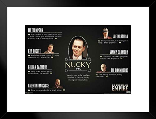 Pyramid America Boardwalk Empire Nucky vs. TV-Show 20x26 inches Matted Framed Poster