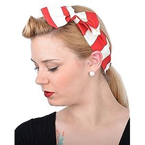 Damen Haarband Natalie Sailor Streifen Rockabilly Haartuch