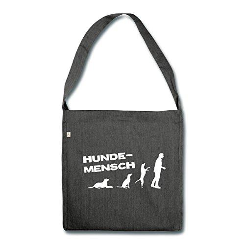 36a3bc63c0b40 Spreadshirt Martin Rütter Hundemensch Schultertasche aus Recycling-Material  Schwarz Meliert