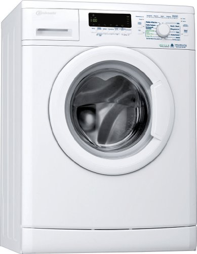 Bauknecht WA 744 BW Waschmaschine / A+++ / Frontlader / 1400 UpM / 7 kg / Display /Big window / Vollwasserschutz / unterbaufähig / Weiß
