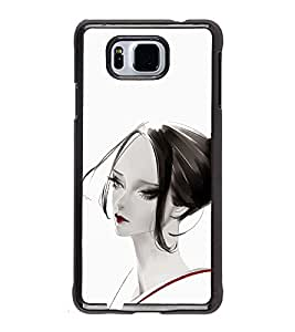 iFasho Chinese Girl Back Case Cover for Samsung Galaxy Alpha
