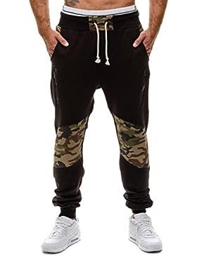 YCHENG Pantalones de Chándal Camuflaje con Bolsillos Baggy Deportivos Jogging para Hombre