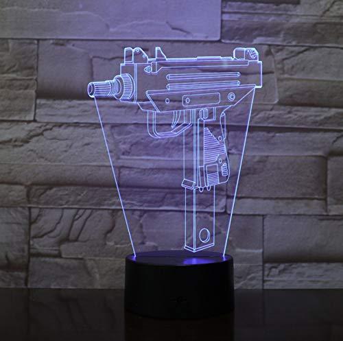 Infantería Luz De Noche Led Ilusión 3D Usb Touch Sensor Rgb Kid...