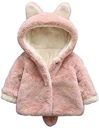 greatmtx Abrigo de Invierno para niña bebé Chaqueta cálida Gruesa Suave, Traje de Nieve con Capucha de Oreja Linda