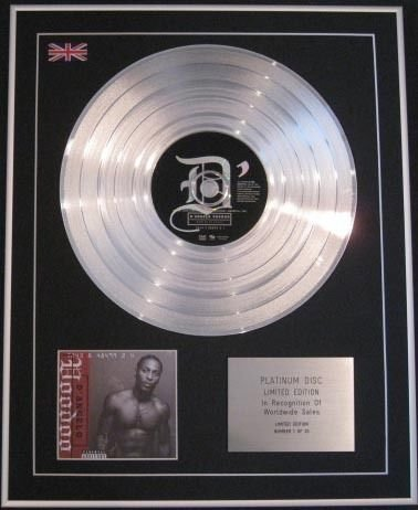 D 'Angelo - Ltd Edtn CD Platinum disc- Voodoo